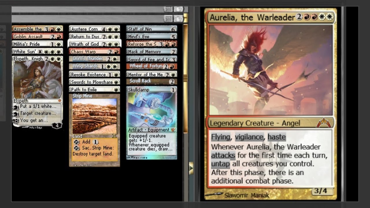 MTG EDH Commander: Aurelia, the Warleader Deck Tech - YouTube