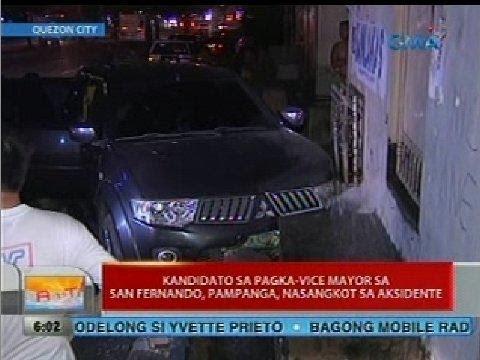 UB: Kandidato sa Pagka-vice Mayor sa San Fernando, Pampanga, nasangkot sa aksidente