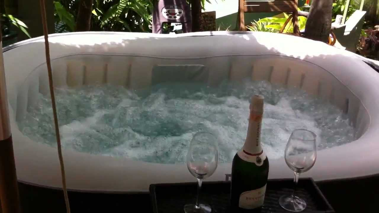 2 person inflatable portable mspa jacuzzi hot tub - YouTube