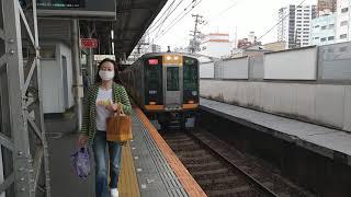 阪神9000系9201Fの快速急行奈良行き 鶴橋駅