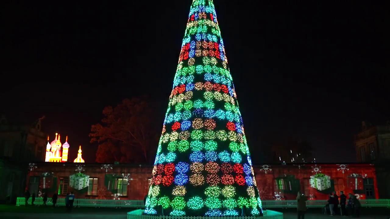 Hologram Christmas Tree Projector.Longleat Christmas Tree Show Lci Productions