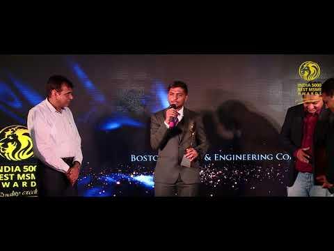 India 5000 Best MSME Awards 2017 Winner Boston Export & Engineering Company
