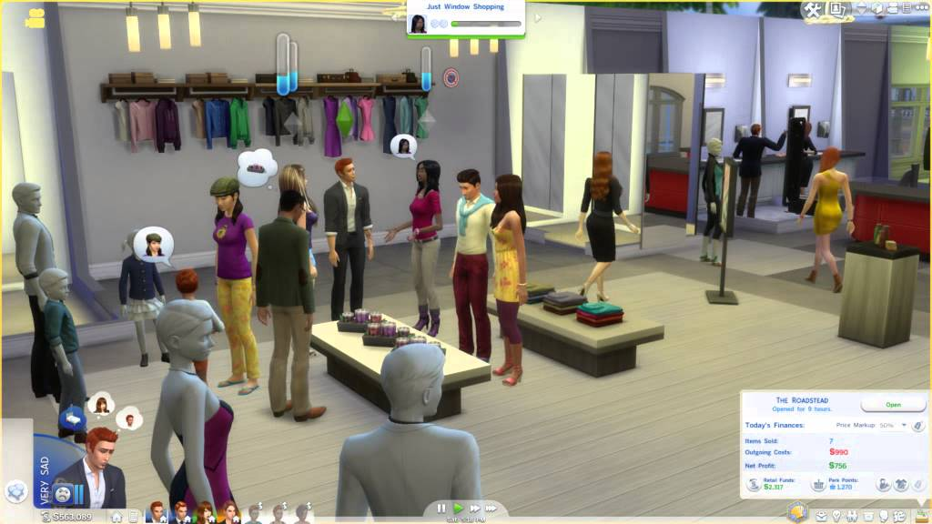 Sims  Free Store Clothes