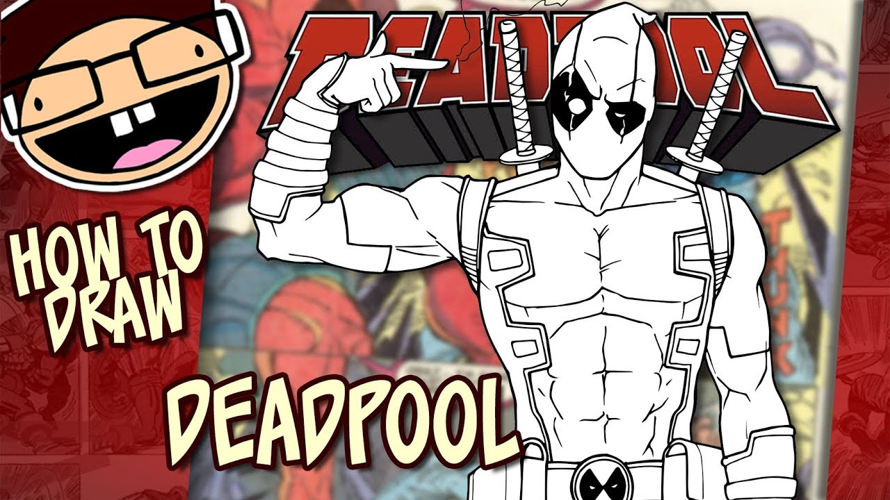 how to draw realistic deadpool