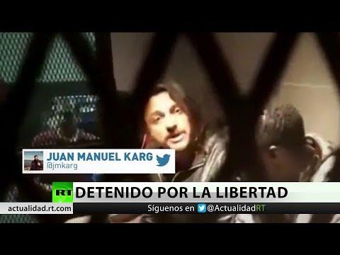RT en Español: Argentina: Detienen a un activista durante manifestación por la liberación de trabajadores senegales