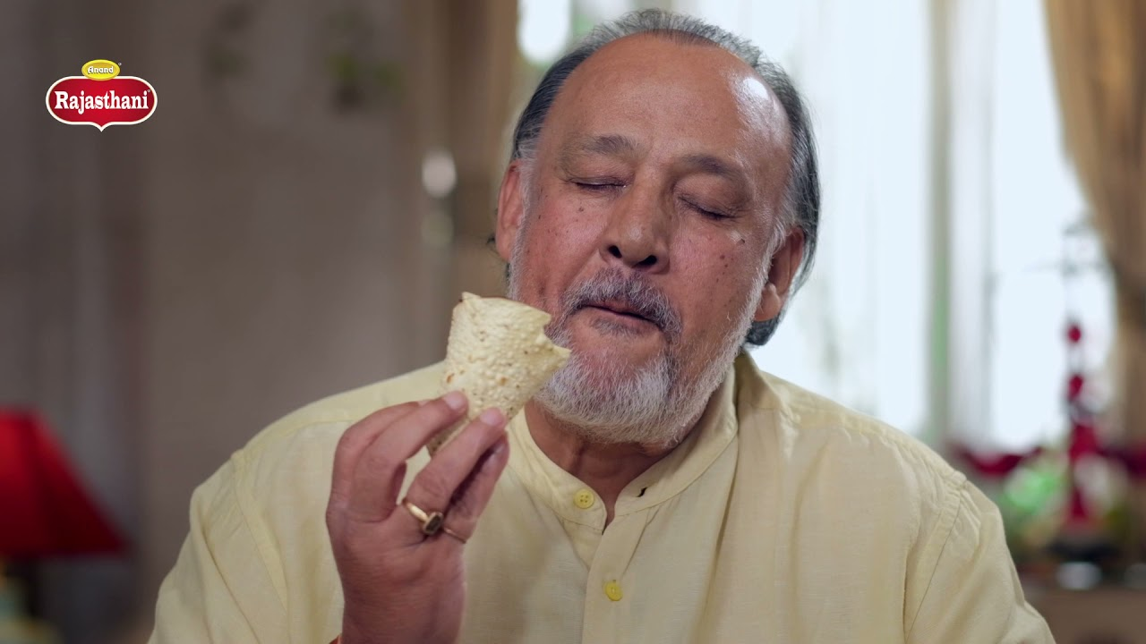 Anand Food Product TV Commercial with Alok Nath | Rajasthani Papad