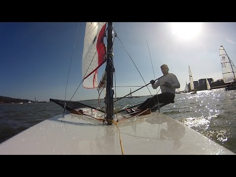 funNstuff 2015 Wilsonians Warm Up Series Race 5 Ian was out in his Blaze Dinghy
