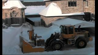 1. City snow removal   in Laval, Quebec, Canada - winter 2012 -2013.