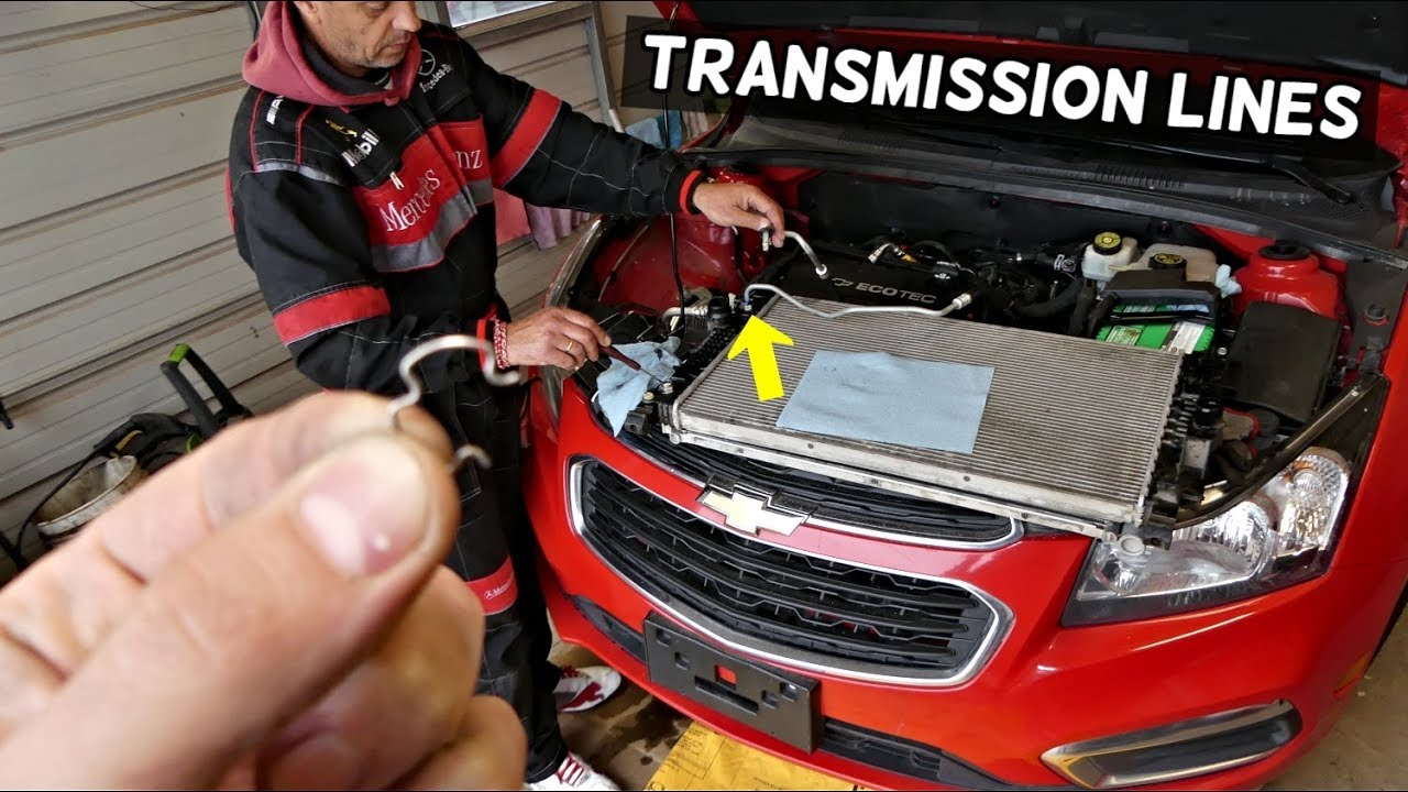 How To Disconnect Transmission Line On Chevrolet Cruze Sonic Youtube