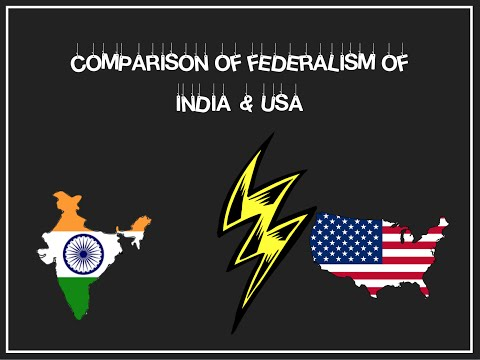 Federalism in India vs USA (ppt)