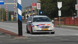 22-09-17 (Verkeers)Politie en (Motor)Ambulances met spoed in Groningen