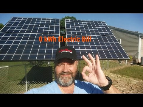 "Solar Electric PV And Wind Home Power Bill  ""0""  kWh October 2016  By KVUSMC"