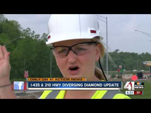 I-435 and 210 Hwy diverging diamond update