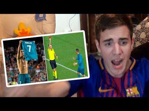 Barcelona vs Real Madrid 13 2017 REACCIONES DE UN HINCHA SUPERCOPA
