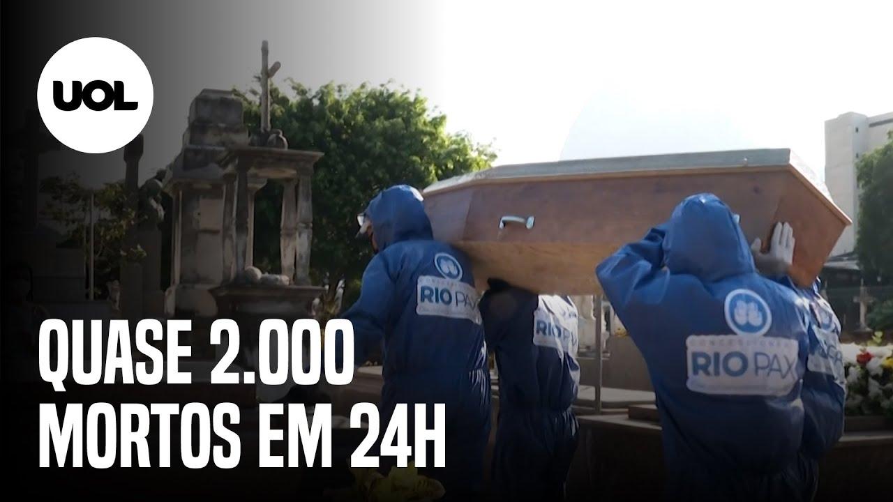 Covid-19: 1.924 mortes no Brasil em 1 dia