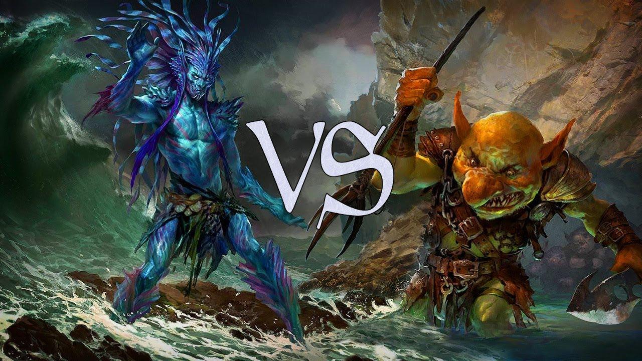 mtg duel deck gameplay merfolk vs goblins youtube