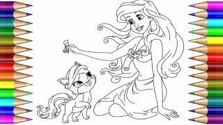 Coloring Ariel The Little Mermaid Disney Disney Princess Coloring раскраска для детей