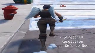 How to get stretched resolution on Geforce Now Fortnite