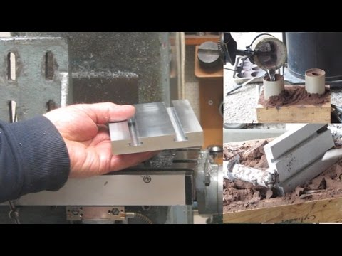 Metal Casting at Home Part 65. Casting and Machining a Tee Slot Table.