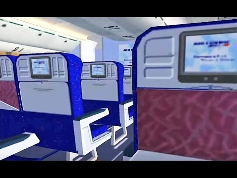 FSX Air France 777 Virtual Cabin - Departure from Paris!