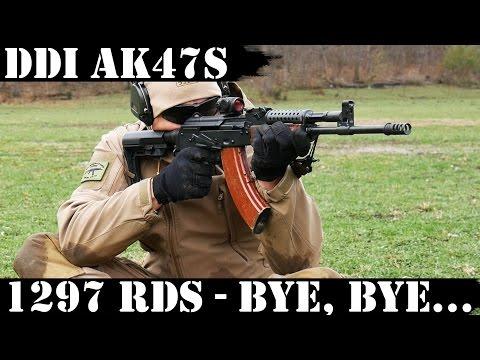 DDI Hammer Forged AK47S, 1297 Rounds Later...Bye, Bye, Bye...