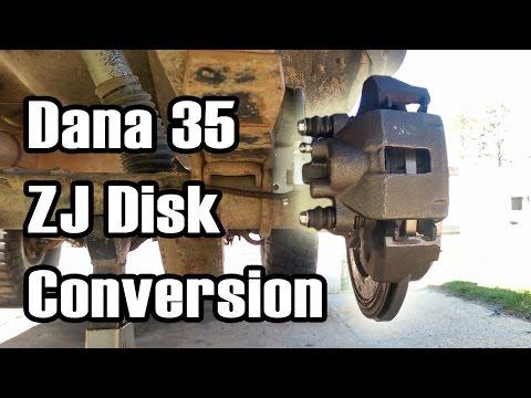 89 Cherokee Dana 35/44 Rear Disk Brake Conversion