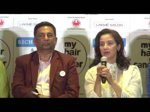 Manisha Koirala For Cancer Awareness