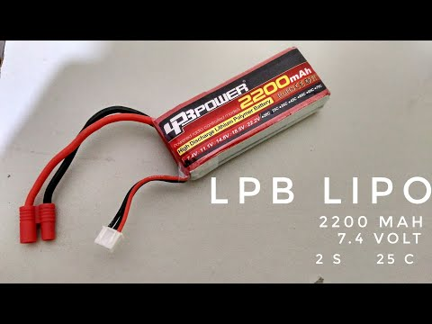 REVIEW OF THE LPB LIPO 25C 2200MAH 7.4V LIPO AND THE B3AC ON THE SYMA X8