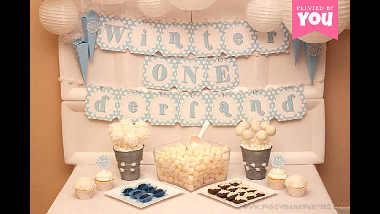 Ideas for winter onederland decorations youtube