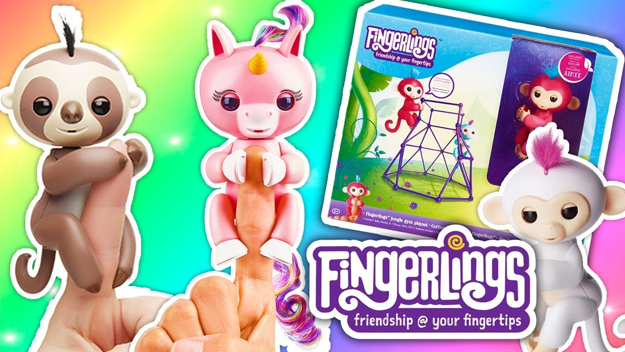 Unicornio Changuito Y Perezoso Nuevos Fingerlings