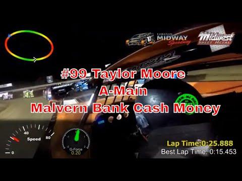 #99 Taylor Moore A-Main Malvern Bank Cash Money SuperDirt Lebanon Midway Speedway