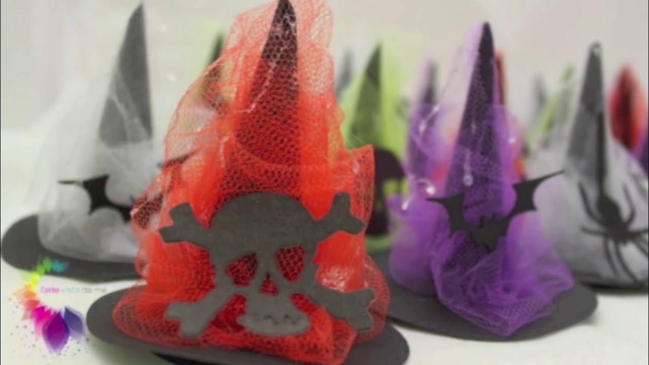 Estremamente Tutorial Cappellini di carta da stregha per Halloween con sorpresa  FM07