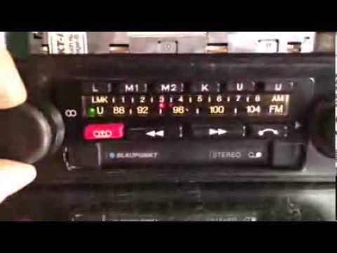 Chromelondon.com BLAUPUNKT BAMBERG ELECTRONIC 455 Vintage Classic Car Stereo Radio Cassette