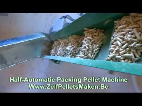 pellets inpakken d 39 emballage granules en bois packing pellets bagging machine youtube. Black Bedroom Furniture Sets. Home Design Ideas