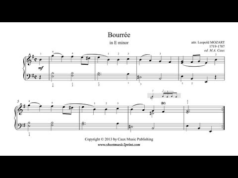 Leopold Mozart : Bourrée in E minor - Notebook for Wolfgang