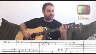 Tutorial - Stand By Me w\TAB | Fingerstyle Guitar Lesson