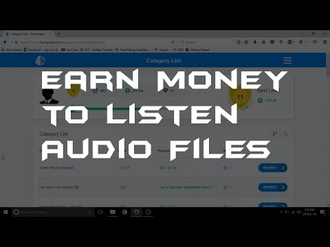 Earn Money to Listen Audio FIles  Humanitic  Earn Money Online