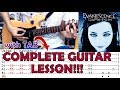 Bring Me To Life - Evanescence(Complete Guitar Lesson/Cover)with Chords and Tab