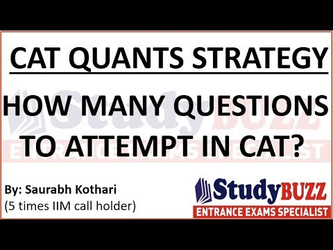 CAT quants strategy- How many questions to attempt in CAT exam?