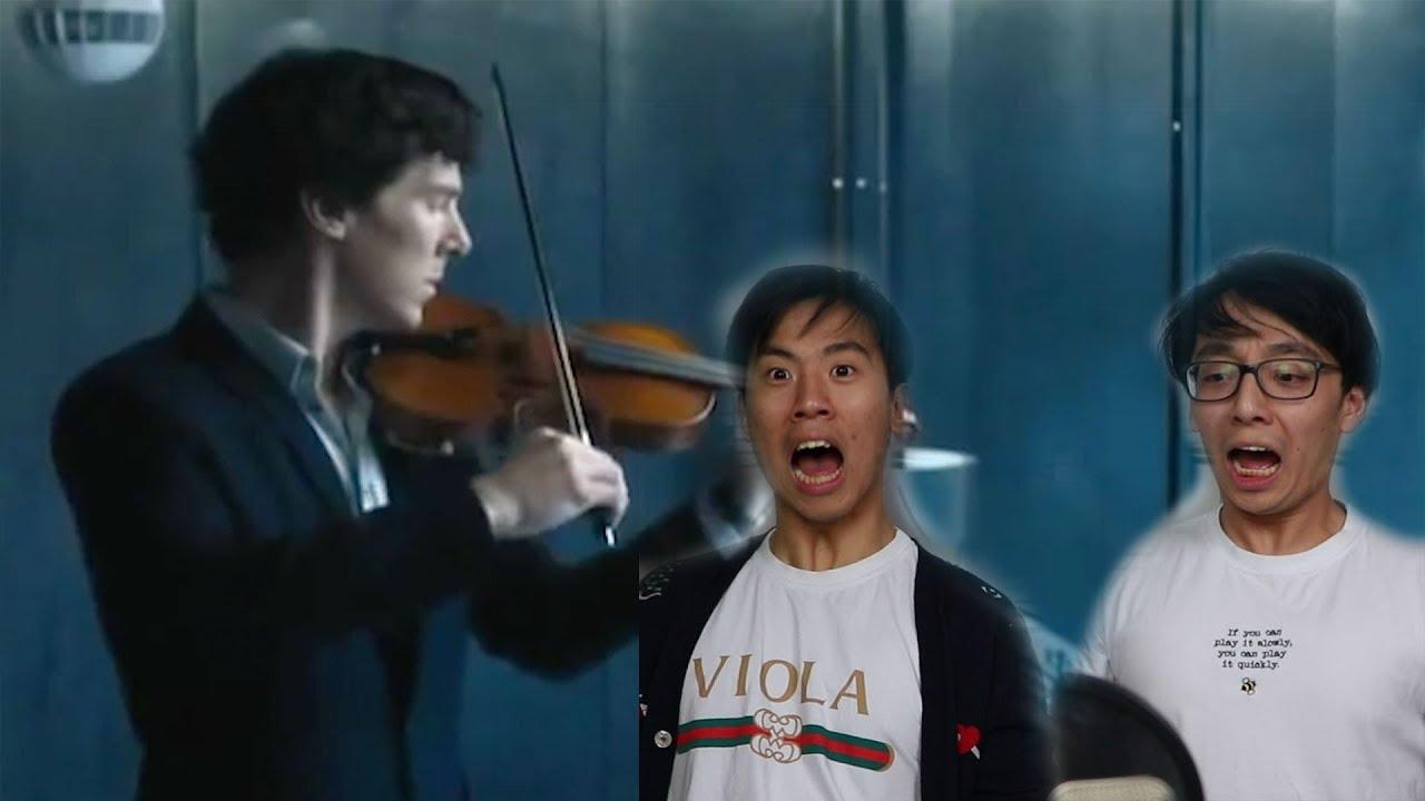 Benedict Cumberbatch Plays Violin