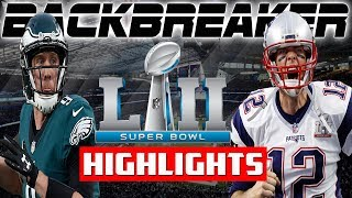🏈 Nick Foles Game Winning Drive!  Backbreaker NFL 18 | Eagles vs Patriots Superbowl 52 Highlights