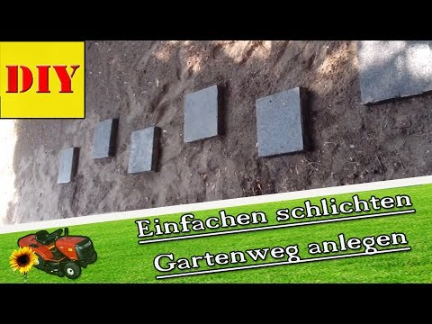 steinplatten im garten anlegen garten gestalten gartenweg anlegen verlegen youtube. Black Bedroom Furniture Sets. Home Design Ideas