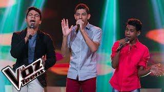 Leandro, Juan Camilo y Anthony cantan 'Amarte más no pude' | Batallas | La Voz Teens Colombia 2016 thumbnail