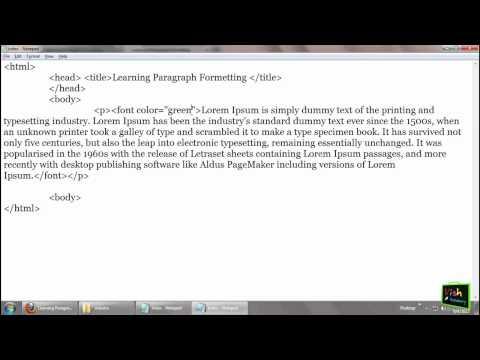 Font Tag -- HTML Paragraph In Hindi  (part 3/7) [ Html In Hindi ]