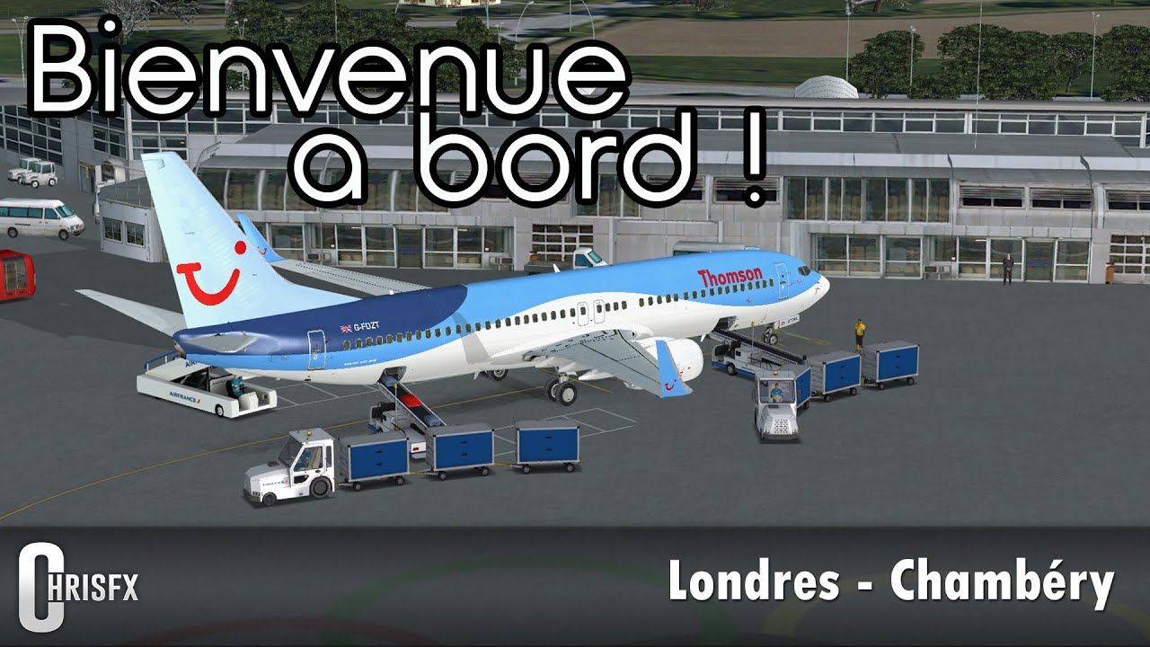 flight simulator x londres gatwick egkk chamb ry lflb en pmdg boeing 737 800 thomson. Black Bedroom Furniture Sets. Home Design Ideas