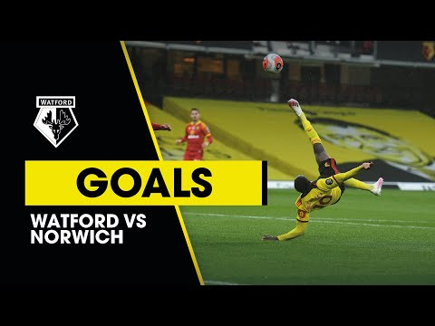 WELBECK OVERHEAD KICK & DAWSON HEADER | WATFORD 2-1 NORWICH CITY | PREMIER LEAGUE HIGHLIGHTS