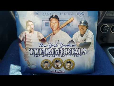YANKEES IMMORTALS MEDALLION COLLECTION!!!