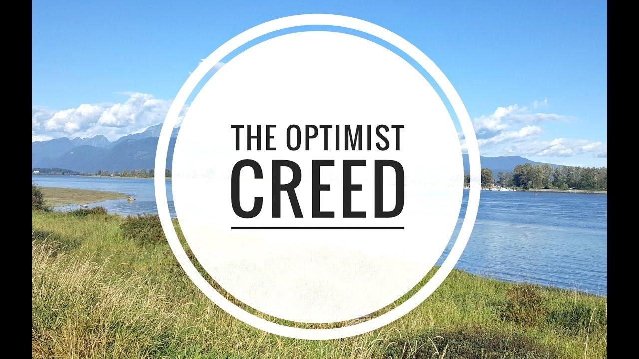 creed poem Optimist