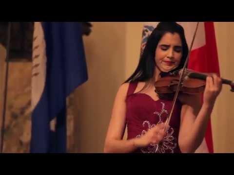 Aisha Syed performs at the OAS in Washington DC