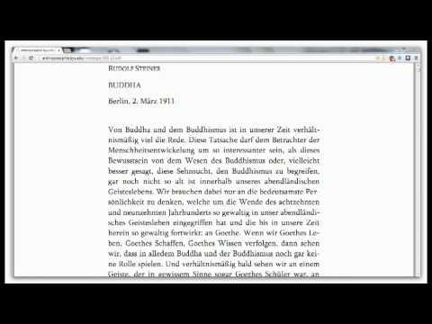 Rudolf Steiner - Buddha (Öffentlicher Vortrag in Berlin vom 2.3.1911)
